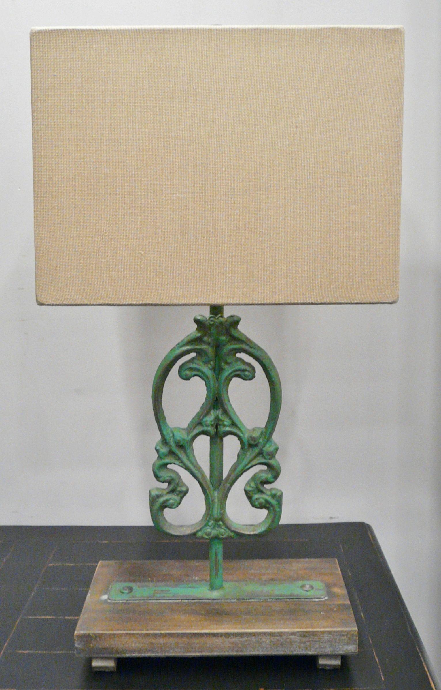 Green Iron Lamp By Bramble Iron Lamp