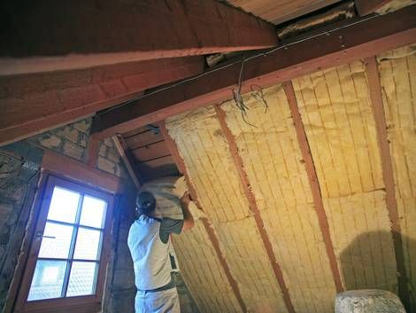 Zwischensparrendämmung Dach dämmen, Dach, Haus isolieren