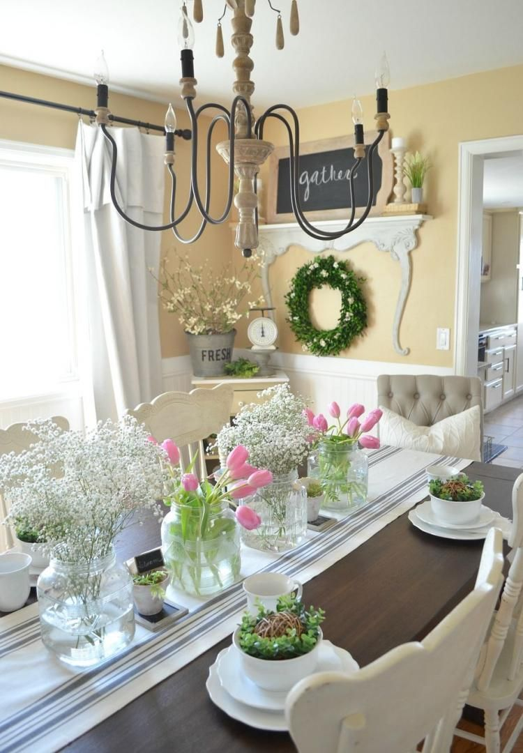 marvelous spring home decor for table and centre pieces ideas homedecor homedecorideas also rh pinterest