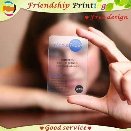 Impression De Cartes Visite Personnalisees Carte En Plastique Pvc Transparent Etanche Nom Livraison Gratuite