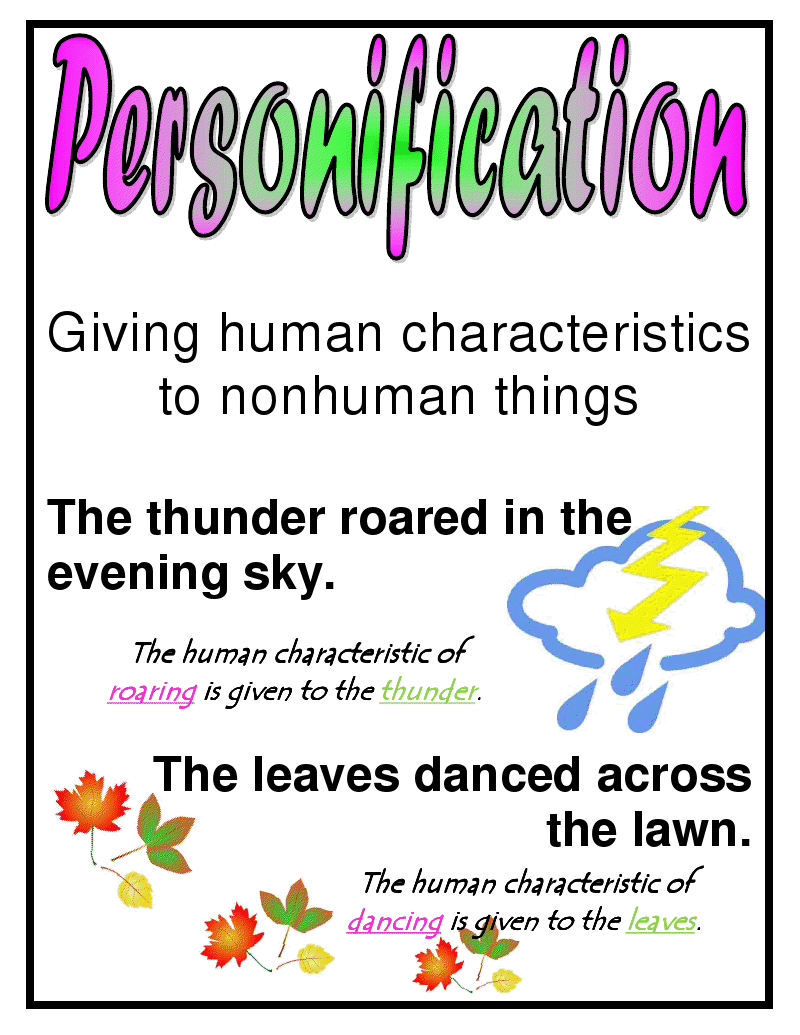 Give Example Of Personification Personification And Apostrophe