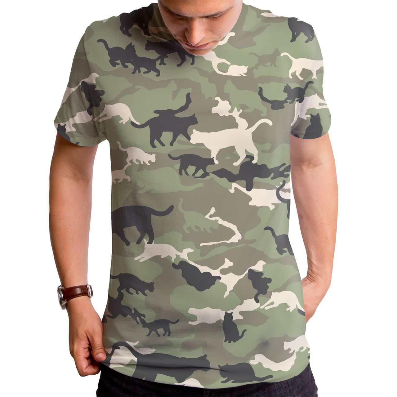 Catmouflage Cat Camo Men s Sublimated T Shirt