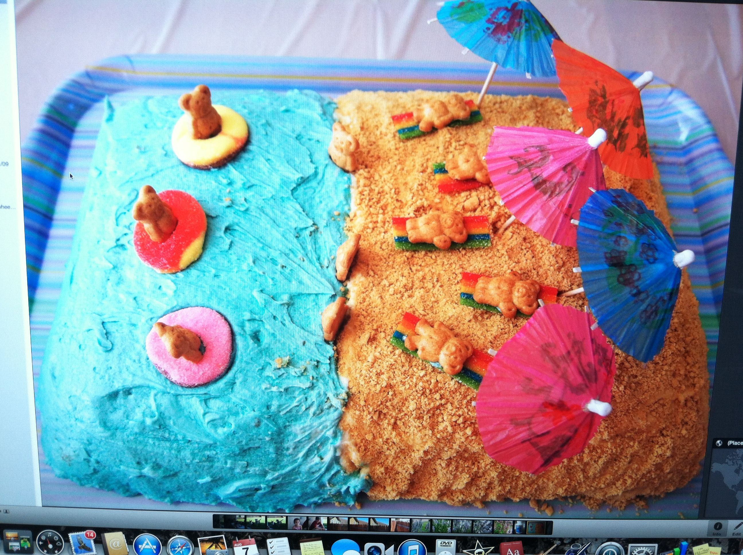 The kids had a water themed backyard birthday party. Cute ...