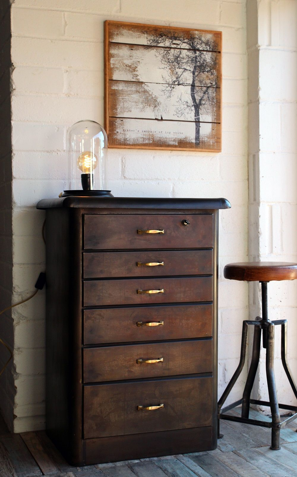 Vintage Style Metal Chest Of Drawers Rockett St George