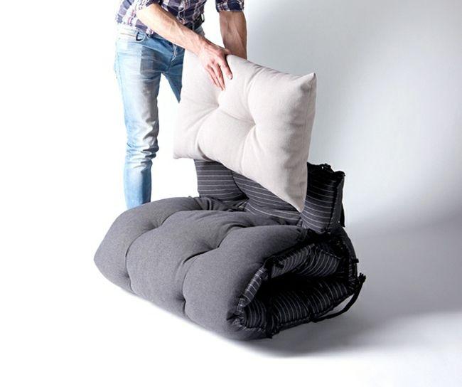 Multifunktionales Bett Design Verwandelt Sich In Sessel Und Sitzsack