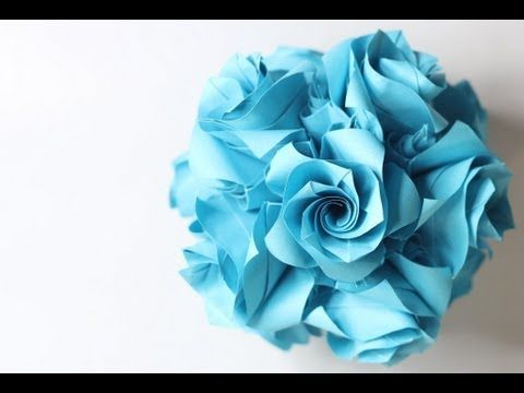 hd origami ball kusudama versailles krystyna burczyk youtube manuel pinterest. Black Bedroom Furniture Sets. Home Design Ideas
