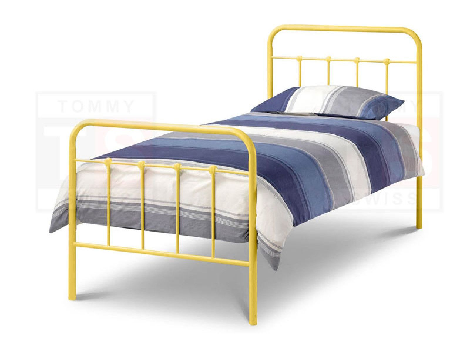 Single Size Metal Bed Frame Elmo Collection Yellow Metal