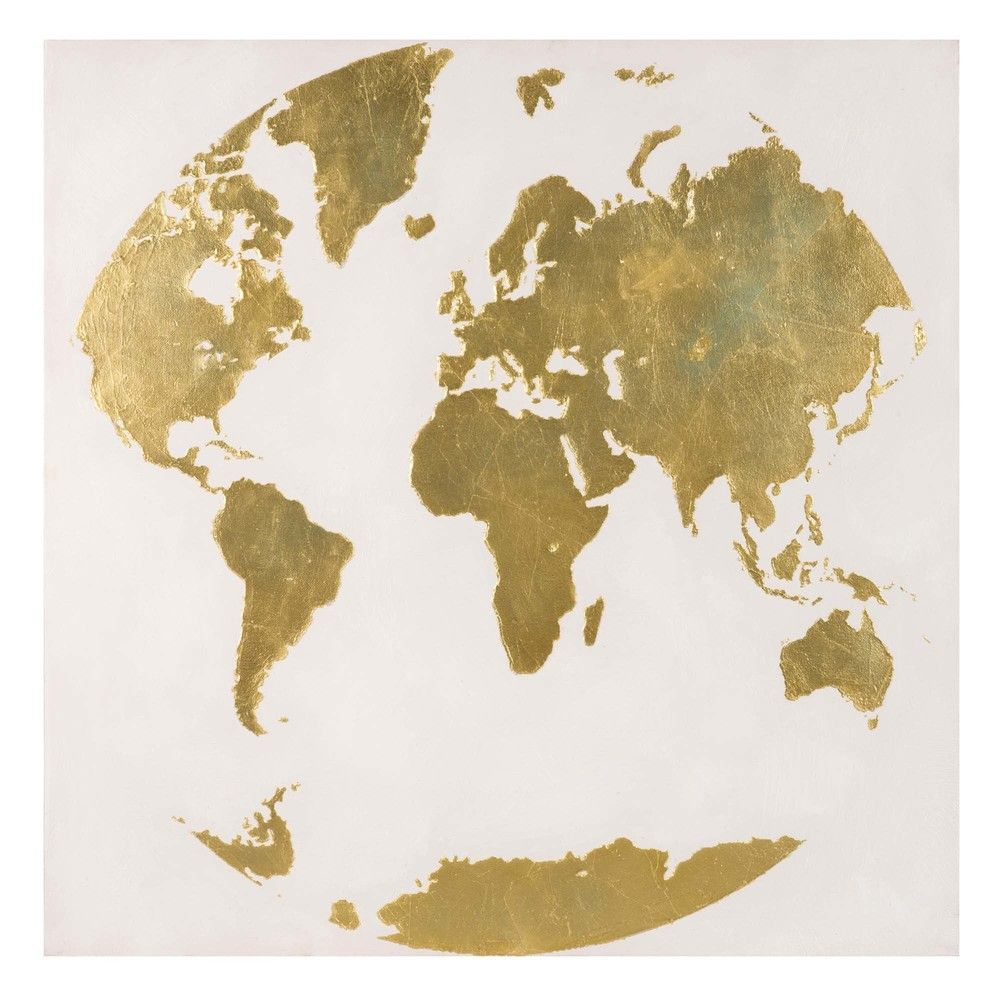 Deco Murale World Map Art Gold World Map World Map Tattoos
