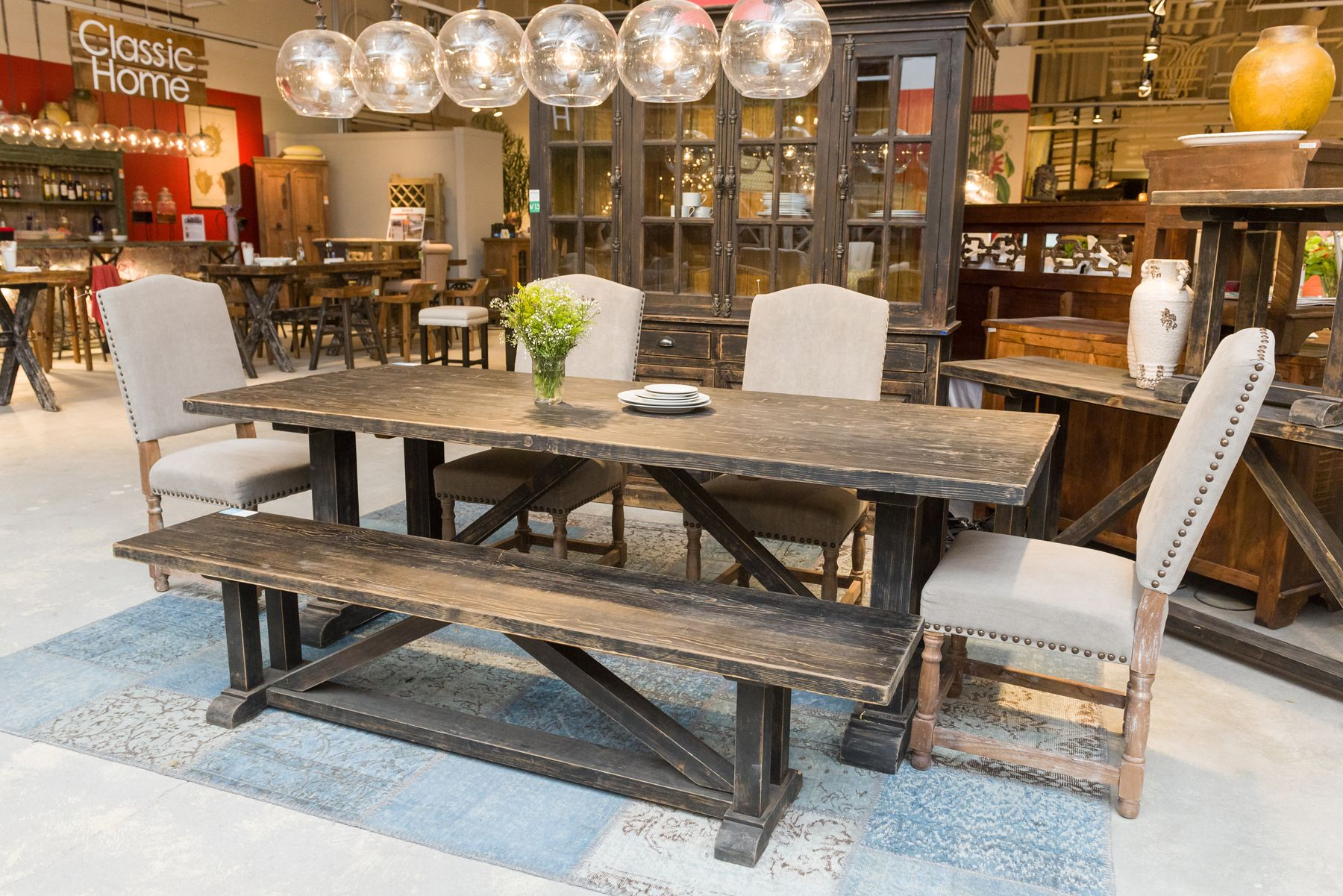 Hyland Dining Table from Classic Home as shown from Las