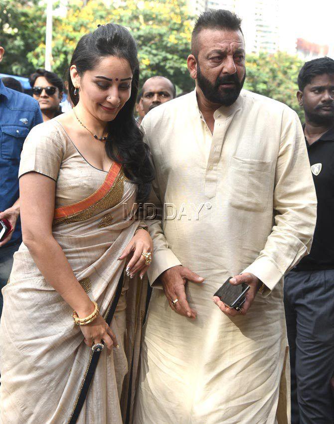 Photos Sanjay Dutt And Wife Maanayata Perform Ganpati Puja Entertainment Bollywood Actress Hot Photos Beautiful Indian Actress Beautiful Bollywood Actress