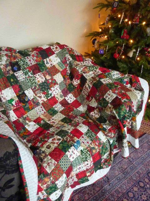 Christmas Quilt Christmas Patchwork Christmas Quilting