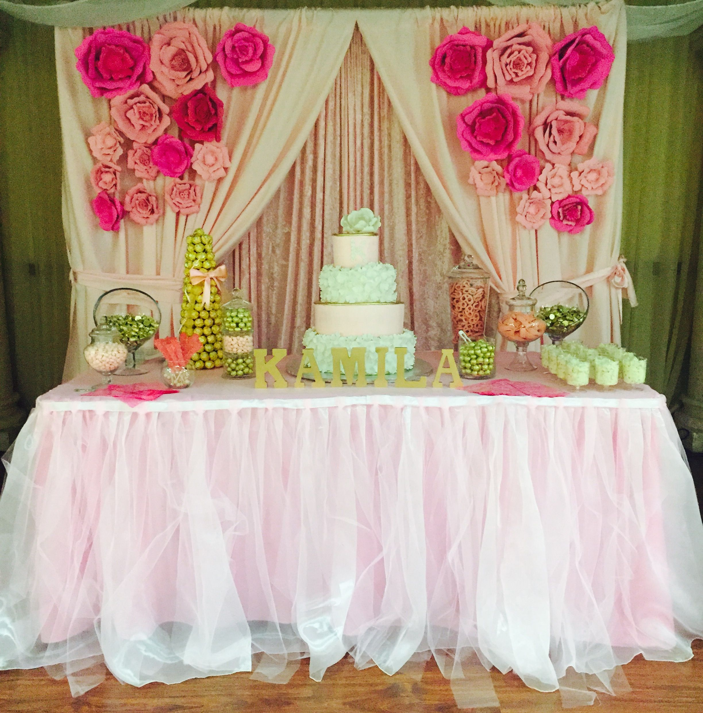 Pin by eisy Jimenez on Baby Shower in Pink and Gold