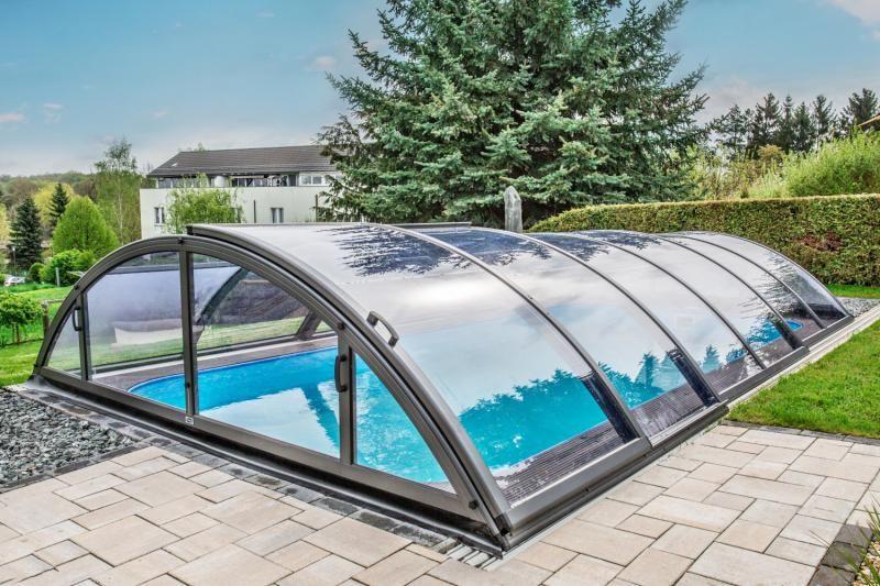 Pool Uberdachung Poolabdeckung Albixon Klasik Clear A 319x635cm