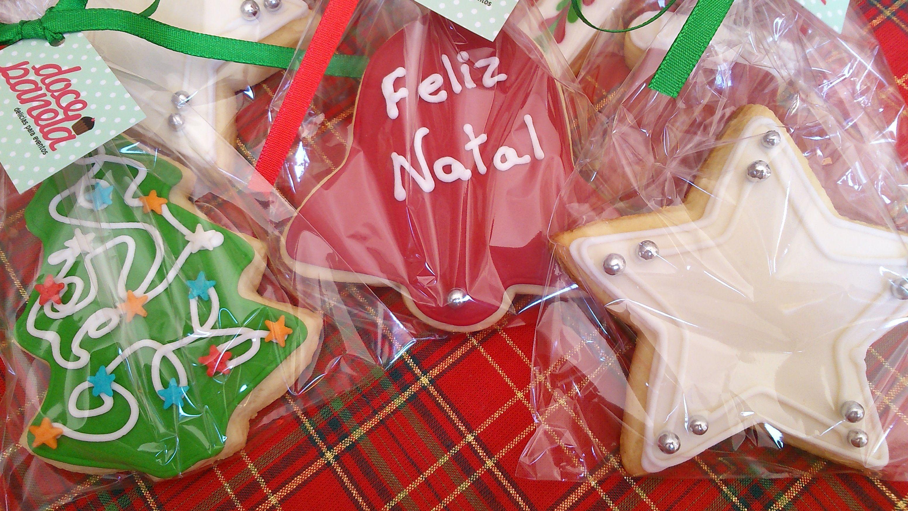Biscoito decorado, biscoito de Natal, cookie design, Doce Panela