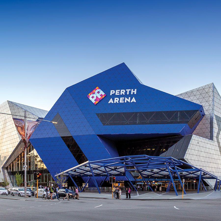 Stadium Branding. Perth Arena. Illuminated Letters And