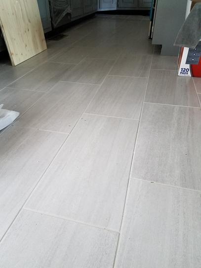 Home Decorators Collection Nova Falls Gray 12 In X 24 In Porcelain Floor And Wall Tile 15 In 2020 Porcelain Flooring Grey Tile Kitchen Floor Tile Floor Living Room