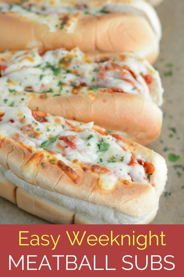 Easy Meatball Subs images