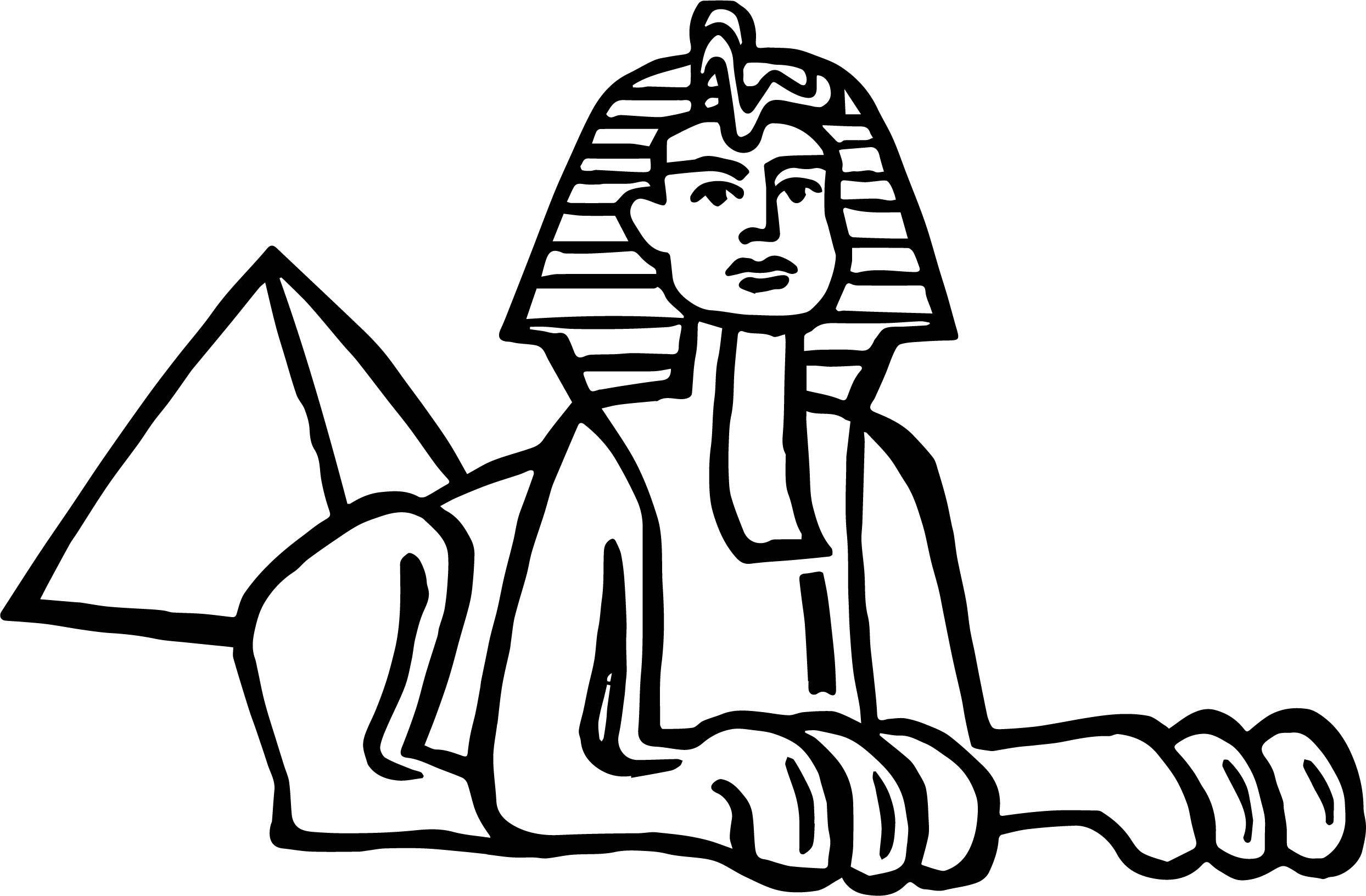 Cool Splendor Sphinx In Egypt Coloring Page Egitto Sfinge Disegni