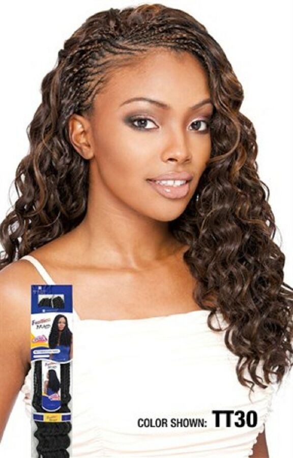 Sng Freetress Synthetic Curly Hair Extension Braid Loose