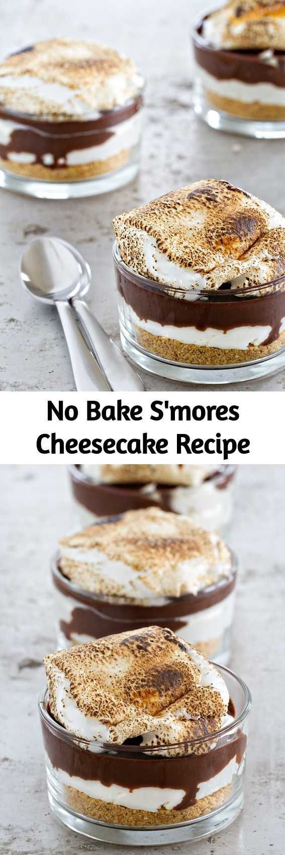 No Bake S'mores Cheesecake Recipe Cheesecake, chocolate ganache and graham cracker crumbs are... No Bake S'mores Cheesecake Recipe Cheesecake, chocolate ganache and graham cracker crumbs are the start of a pretty terrific dessert. Top this no-bake dessert with a gooey roasted marshmallow to create summer dessert perfection.,