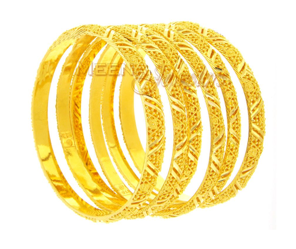 Indian Gold Bangles Designs | Gold Jewellery | Pinterest | Indian ...