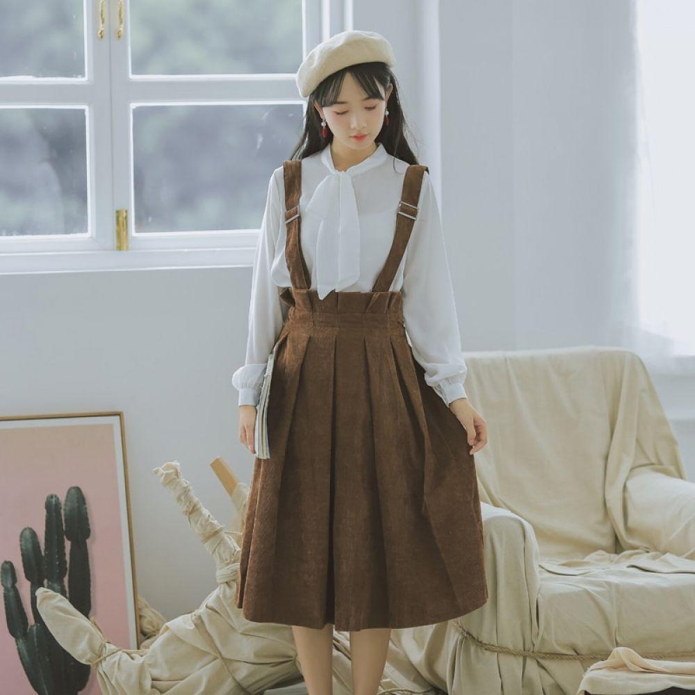 Mori Girl Autumn Loose Skirt