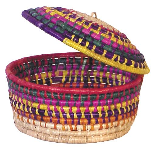 679556b5ebe This Mexican woven palm tortilla basket represents one of Mexico s oldest  traditional crafts. Our hand made baskets will add festive color to your  table ...