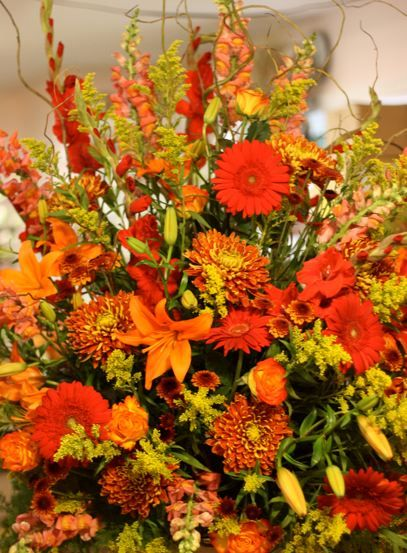 Fall Floral Arrangements Church Altars