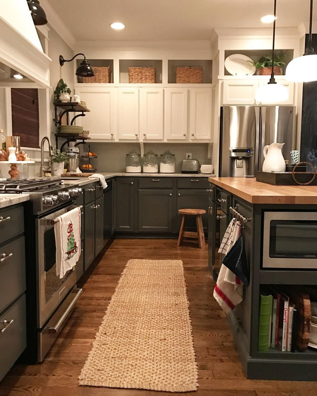 pin by janet dodd on 1036 tallahassee rd | two tone kitchen cabinets