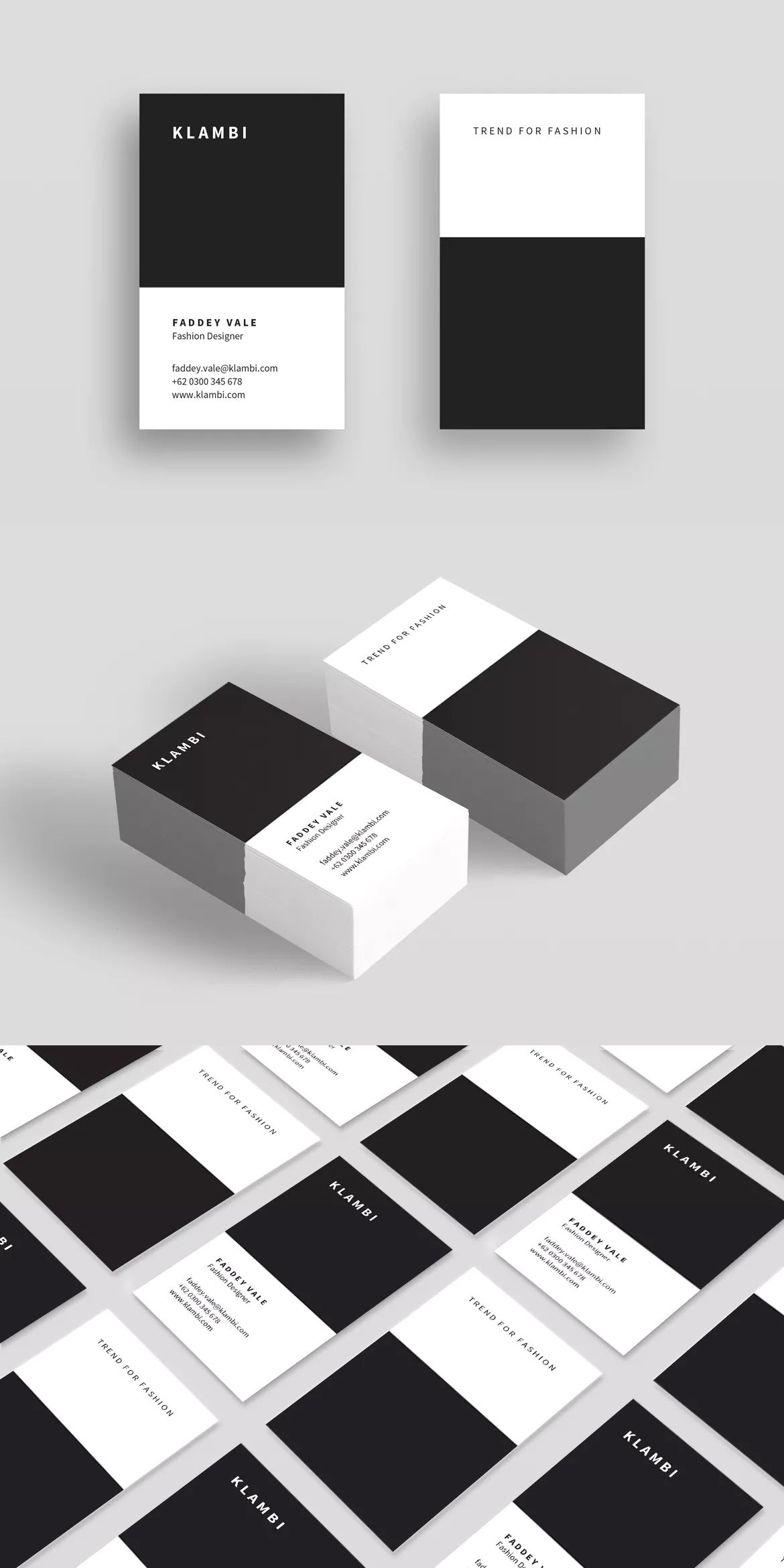 Business Card Vertical Template InDesign INDD | Business Card ...