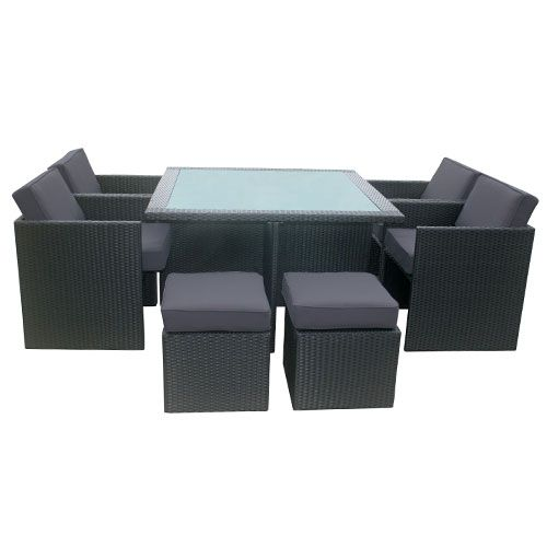 """Luxo """"Euro"""" 9pc 8 Seater PE Wicker Outdoor Dining Setting ... on Luxo Living Outdoor id=37933"""