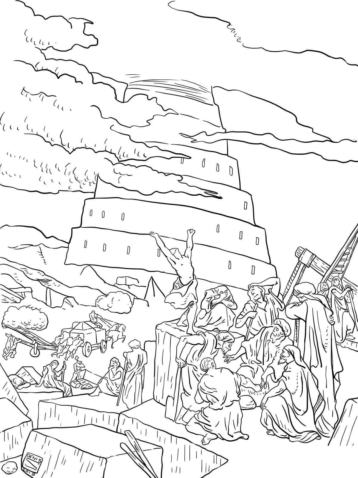 20 Tower Of Babel Coloring Sheet In 2020 Coloring Pages Valentines Day Coloring Page Bunny Coloring Pages