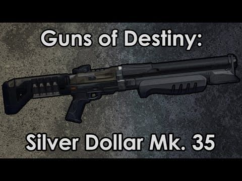 42 guns of destiny silver dollar mk 35 shotgun destiny drawing
