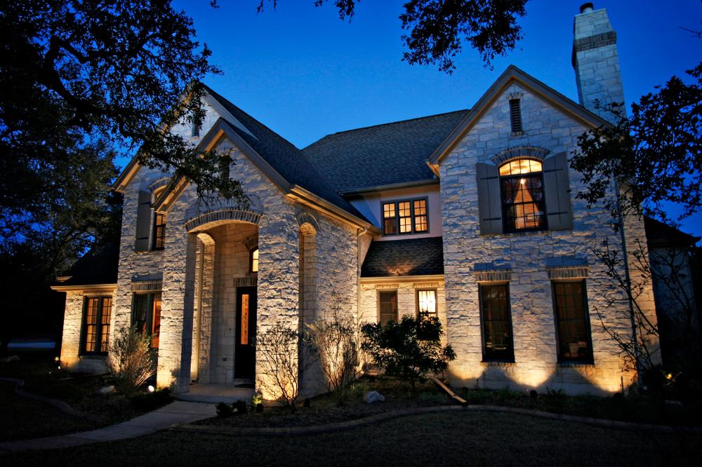 Home Exterior Uplights In 2020 Landscape Lighting Outdoor Landscape Lighting House Exterior