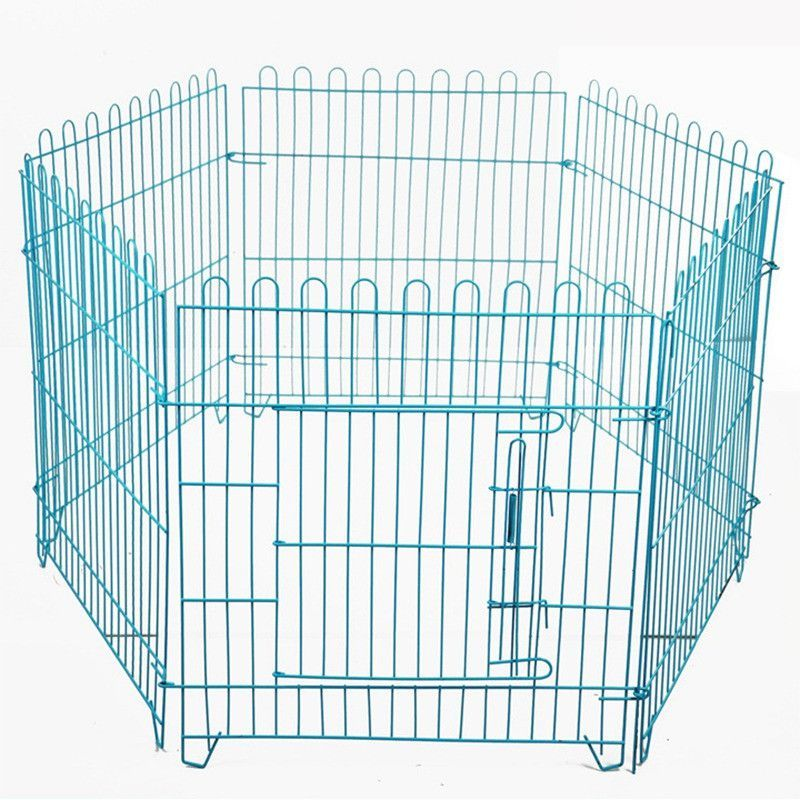 Pet Kennel Cat Playpen for Dogs Folding Crate Animal Playpen Iron ...