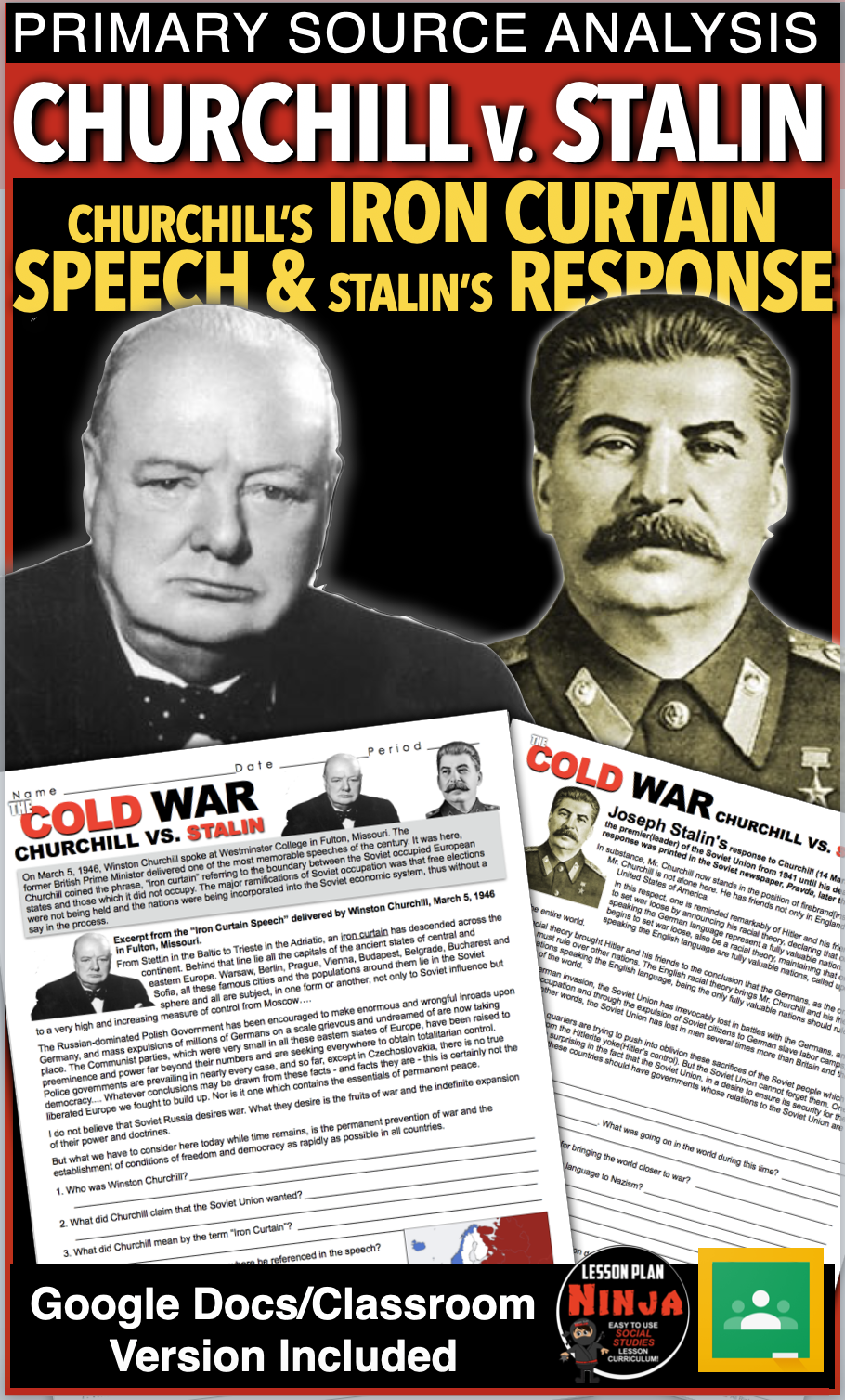 Cold War Churchill V Stalin Primary Source Analysis Iron