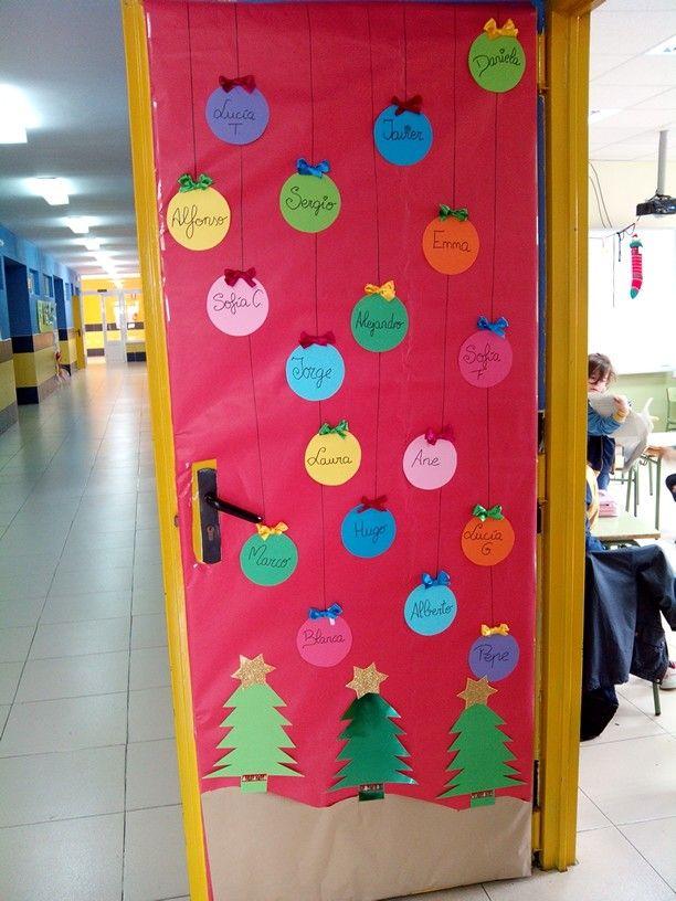 Puerta navide a navidad pinterest navidad puerta for Puertas decoradas navidad colegio
