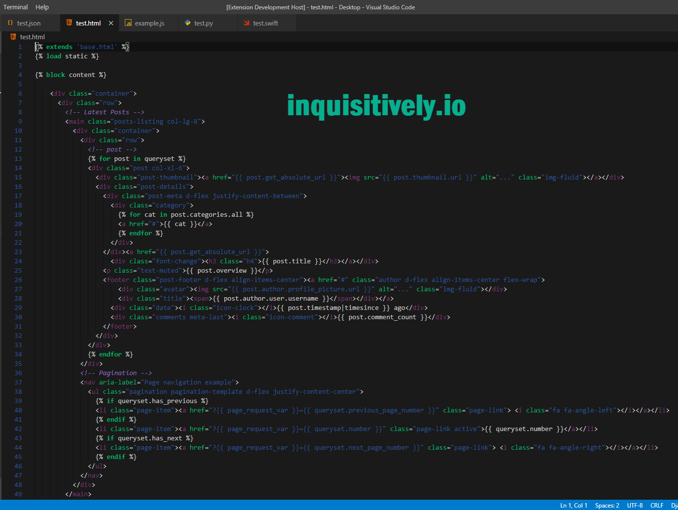 I Took A Couple Days To Create A Theme For Visual Studio Code Vs Code That Closely Resembles The Same Syntax Highlighting The In 2020 Coding Learning To Write Syntax