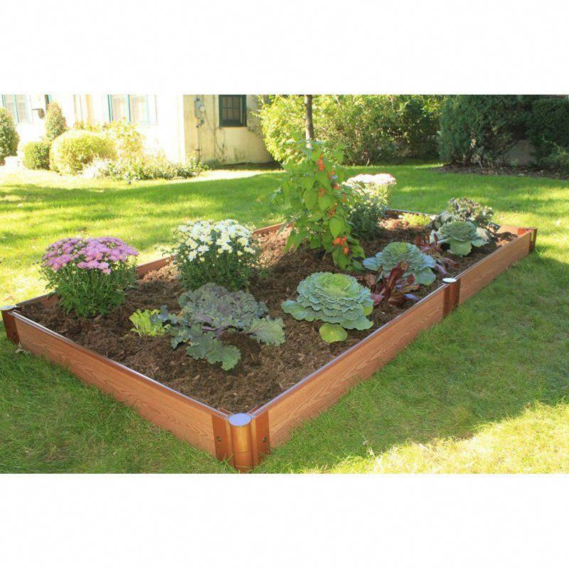 Frame It All 1inch Series Composite Raised Garden Bed Kit