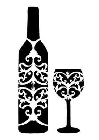 Reusable Stencils Wine Bottles Grapes Stencil Crafts Silhouette Stencil Stencil Templates
