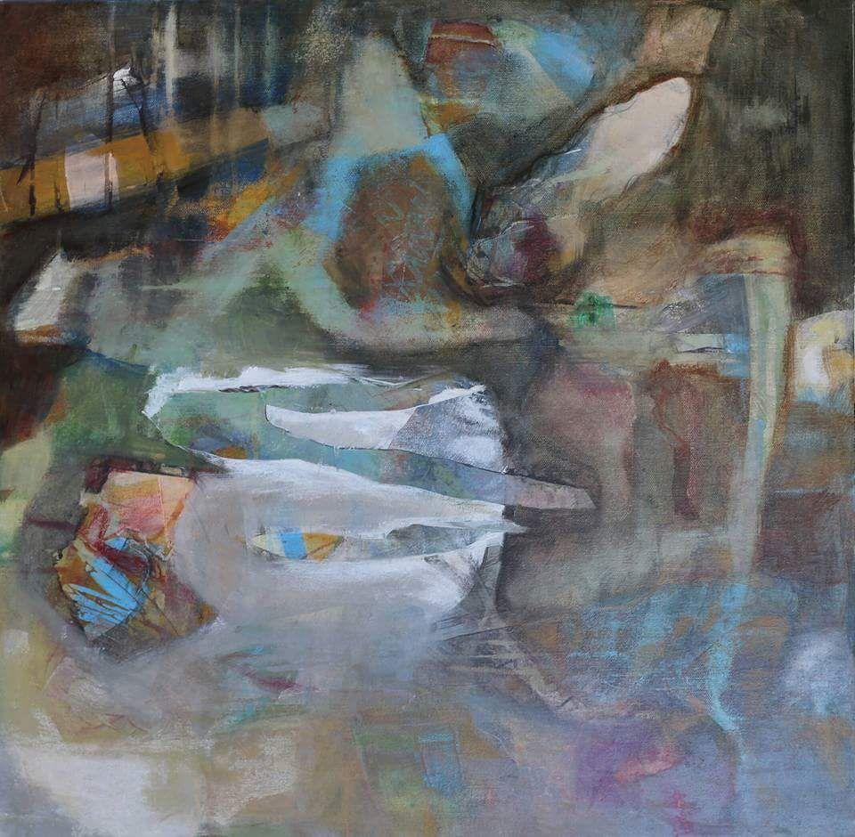 Acrylic On Canvas 24 by 24 Artist Leslie Newman