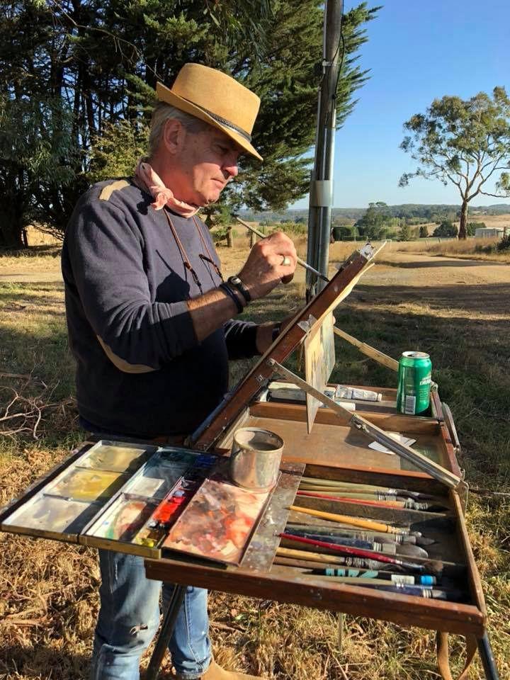 Joseph Zbukvic. Australia March 2018 | Joseph zbukvic. Artist palette. Plein air easel