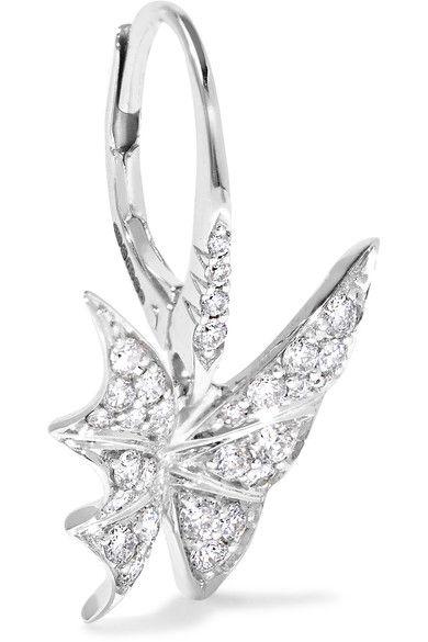 Stephen Webster Fly By Night 18-karat White Gold Diamond Earrings lCDjDJvm