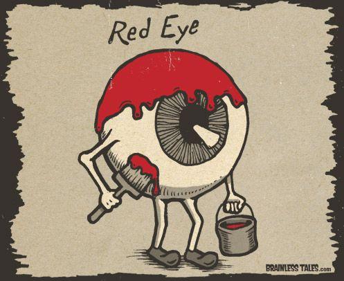 Red Eye Eye Jokes Eye Puns Optometry Humor