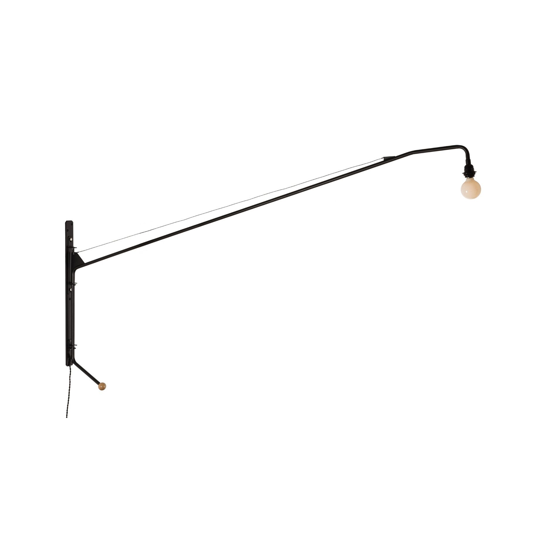 Mid Century Modern Reproduction Potence Wall Lamp Inspired By Jean Prouve Black Wall Lamps Wall Lamp Modern Wall Lamp