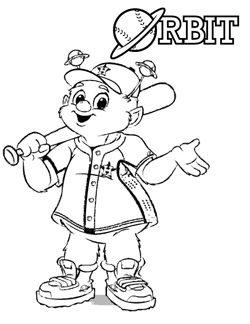 Orbit Coloring Pages Baseball Coloring Pages Coloring Pages Coloring Pages For Boys