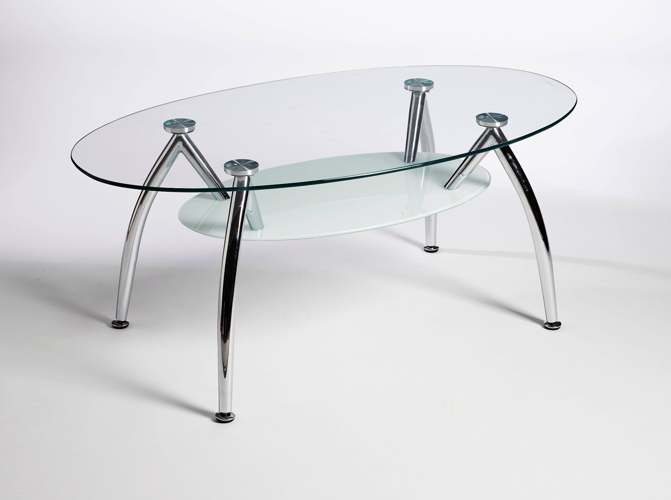 Designer Oval Glass Stainless Steel Coffee Table Amazon