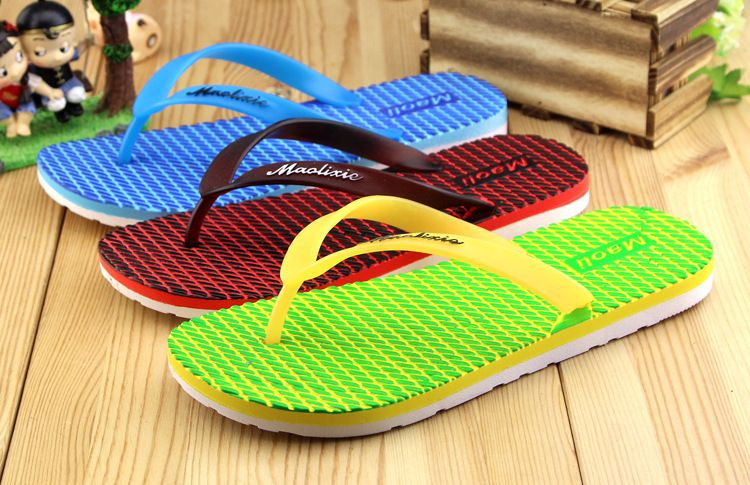 Photo of 2016 new summer brand pinch slippers fashion classic Pinstripe men flip flops pa…