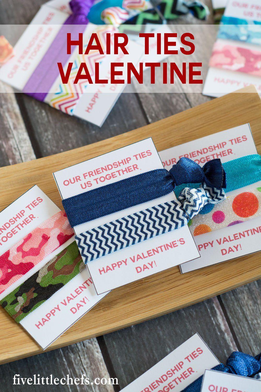 Hair Ties Valentine   **Five Little Chefs**   Valentine ...