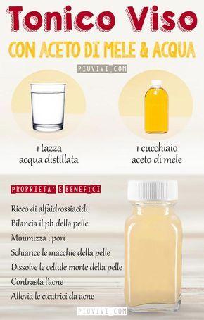 Tonico Viso Con Aceto Di Sidro Di Mele E Acqua Distillata.